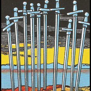 Significado de 10 de espadas arcanos menores