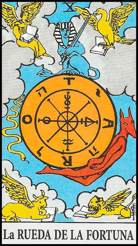 Significado de La Rueda de la Fortuna Arcanos Mayores