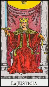 Significado de La Justicia Arcanos Mayores