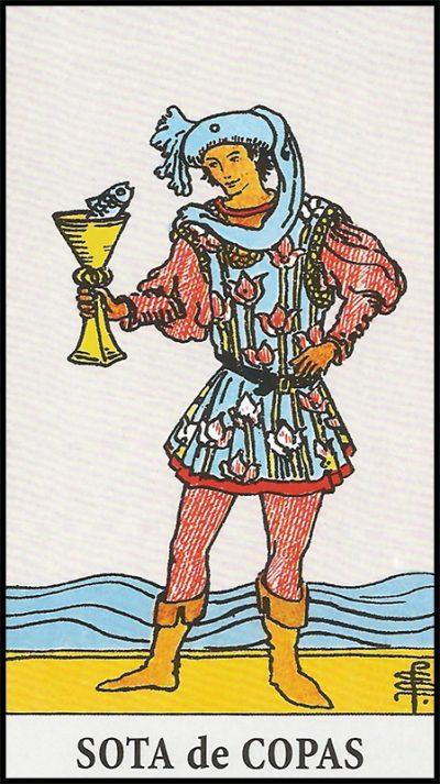 Significado de sota de copas arcanos menores