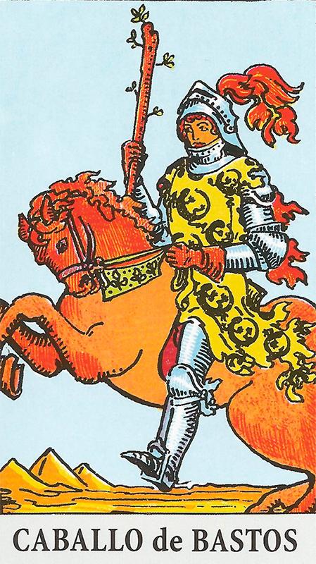 Significado de caballo de bastos arcanos menores