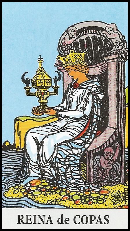 Significado de reina de copas arcanos menores