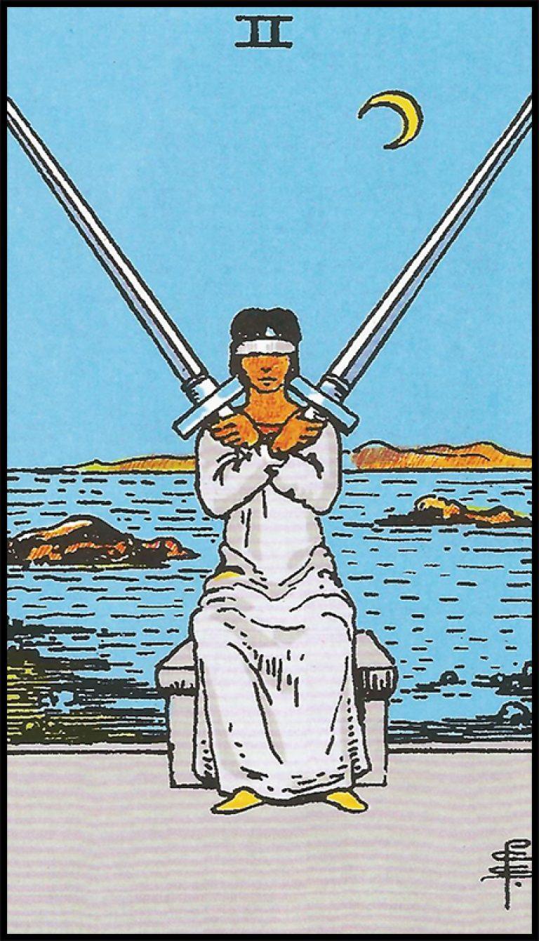 Significado de 2 de espadas arcanos menores