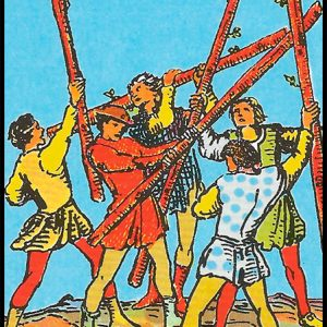 Significado de 5 bastos arcanos menores