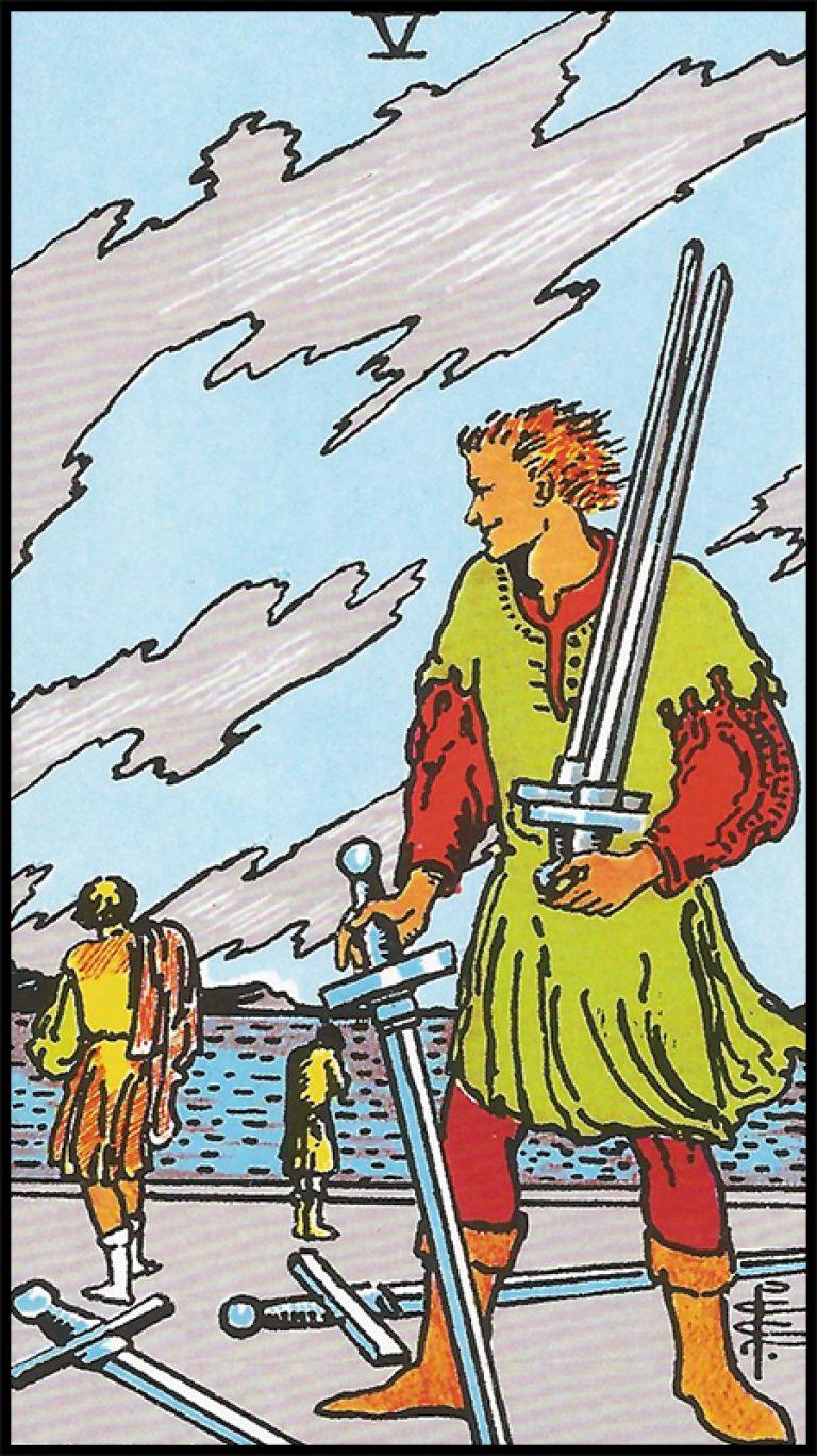 Significado de 5 de espadas arcanos menores