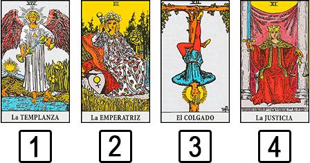 Las tres cartas - tipos de tiradas de cartas de tarot - la guía del tarot