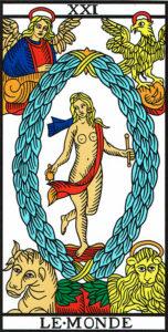 Arcano Mayor El mundo - Tarot de Marsella - La Guía del Tarot