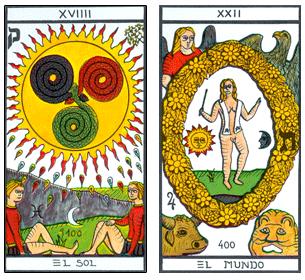 el tarot esoterico de heraclio fournier