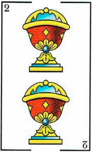 2 de copas - Baraja Española - laguiadeltarot.com