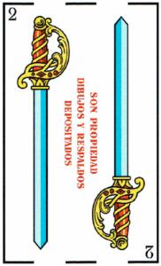 2 de espadas - Baraja Española - laguiadeltarot.com