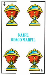 4 de copas - Baraja Española - laguiadeltarot.com