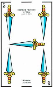 5 de espadas - Baraja Española - laguiadeltarot.com