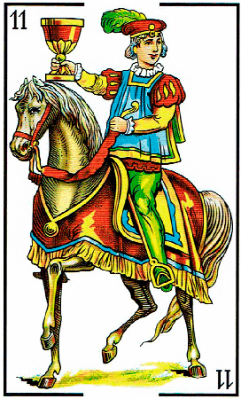 caballo de copas - Baraja Española - laguiadeltarot.com