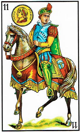 caballo de oros - Baraja Española - laguiadeltarot.com
