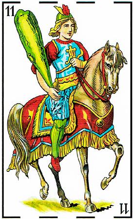 caballo de bastos - Baraja Española - laguiadeltarot.com