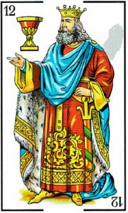 rey de copas - Baraja Española - laguiadeltarot.com