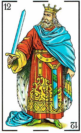 rey de espadas - Baraja Española - laguiadeltarot.com