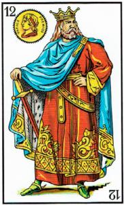 rey de oros- Baraja Española - laguiadeltarot.com