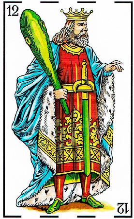 rey de bastos - Baraja Española - laguiadeltarot.com