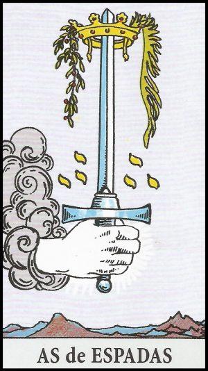 Significado de as de espadas arcanos menores