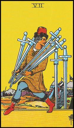 Significado de 7 de espadas arcanos menores